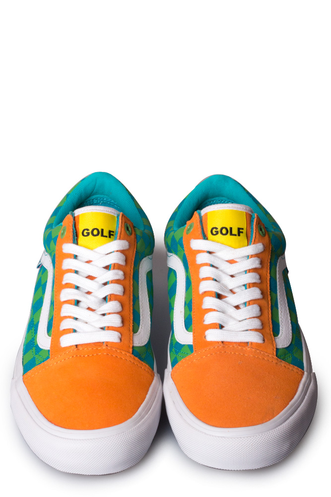 20c974ce40e5a0 Vans Syndicate x Golf Wang Old Skool Orange Blue Green - Bonkers