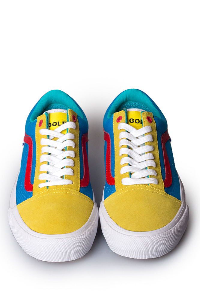 3e2ab3f890 Vans Syndicate x Golf Wang Old Skool Yellow Blue Red - Bonkers