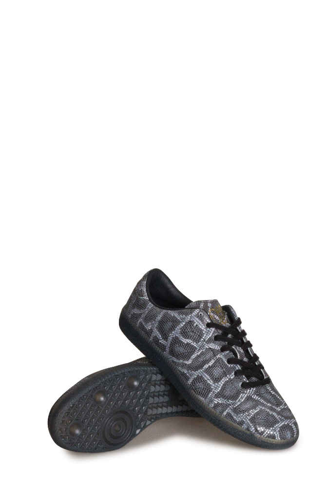 adidas Samba x Jason Dill Skate Shoe Snakeskin Core Black Gold Metallic
