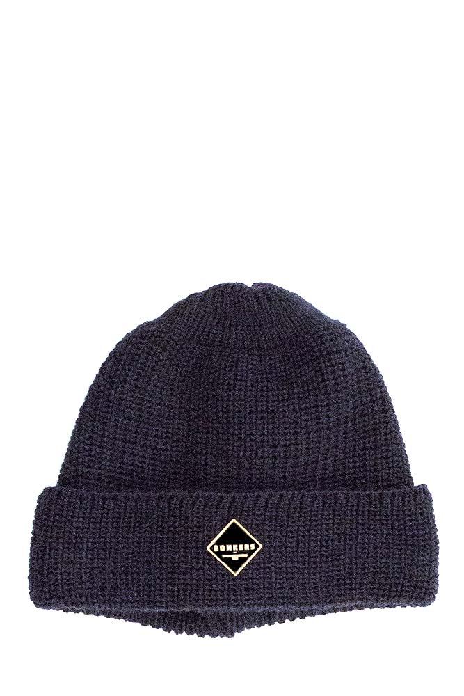 bonkers-pure-wool-beanie-navy-gold-01