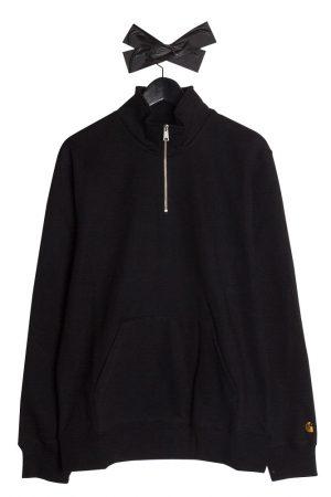 carhartt-wip-chase-neck-zip-sweatshirt-black-gold-01