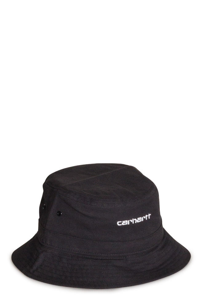 carhartt-wip-script-bucket-hat-black-white-01