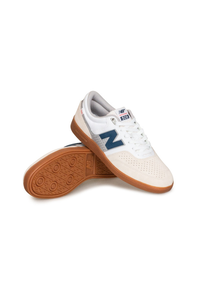 New Balance Numeric 508 Brandon Westgate Shoe White / Navy / Gum ...