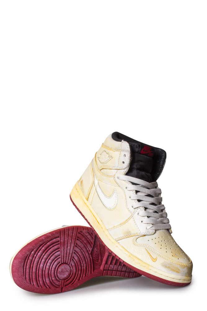 Nike Air Jordan 1 Shoe (Nigel Sylvester) Sail White Varsity Red Reflective  Silver - Bonkers 0ab4dd21be