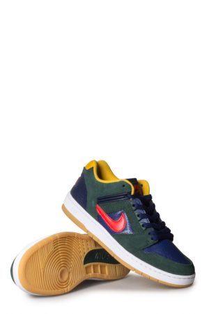10c35f88e2a15 Nike SB Air Force 2 Shoe Midnight Green Habanero Red