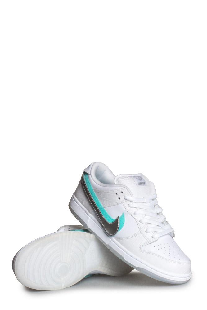 Nike SB X Diamond Supply Co. Dunk Low Pro OG QS Shoe White Chrome White -  Bonkers 1b53a978ec