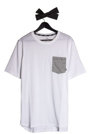 4f16061a659 Nike SB DRY Top Pocket T-Shirt White Grey Heather