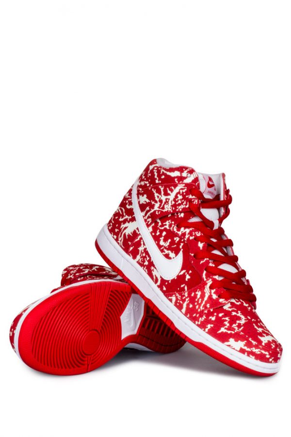 d82fafe68754 Nike SB Dunk High Premium (Raw Meat Quickstrike) Shoe Challenge Red White Challenge  Red - Bonkers
