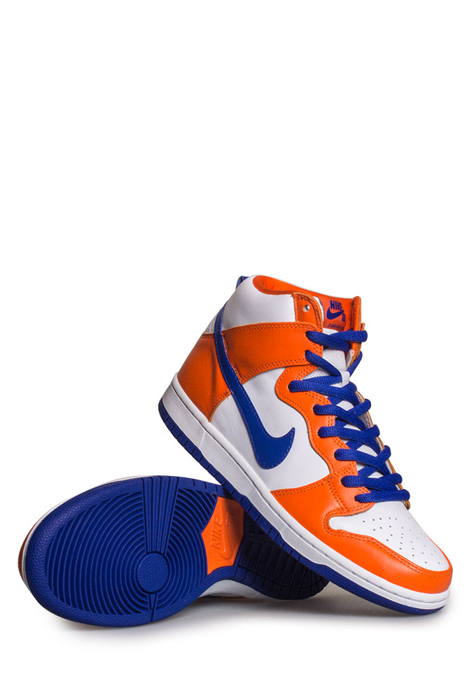 big sale 726c8 5af83 Nike SB Dunk High TRD QS (Danny Supa) Shoe Safety Orange Hyper Blue White