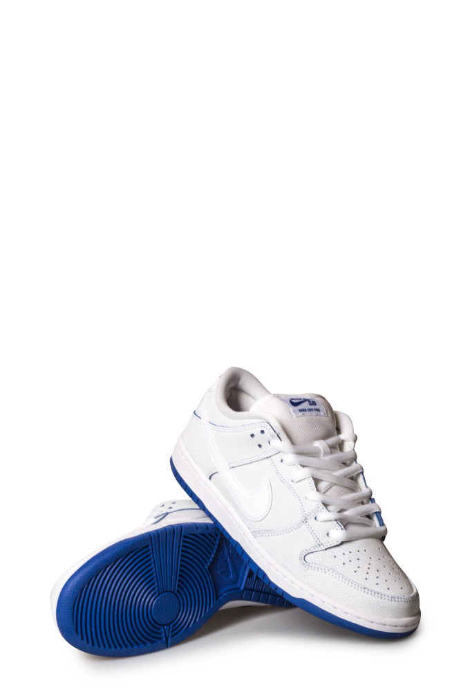 info for 5c338 d8ab2 Nike SB Dunk Low Pro PRM Shoe White/White/Game Royal