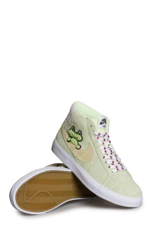 Nike Sb X Frog Zoom Blazer Mid Qs Shoe Lt Liquid Lime Lawn
