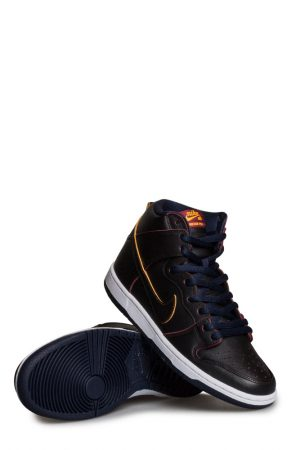 3c2e1f9fa88c5 Nike SB X NBA Dunk High Pro Shoe Black Black College Navy