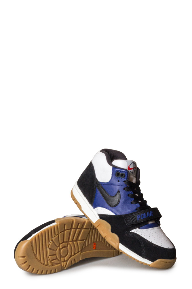 hot sale online watch autumn shoes Nike SB X Polar Air Trainer 1 QS Shoe Black/Black/Deep Royal Blue