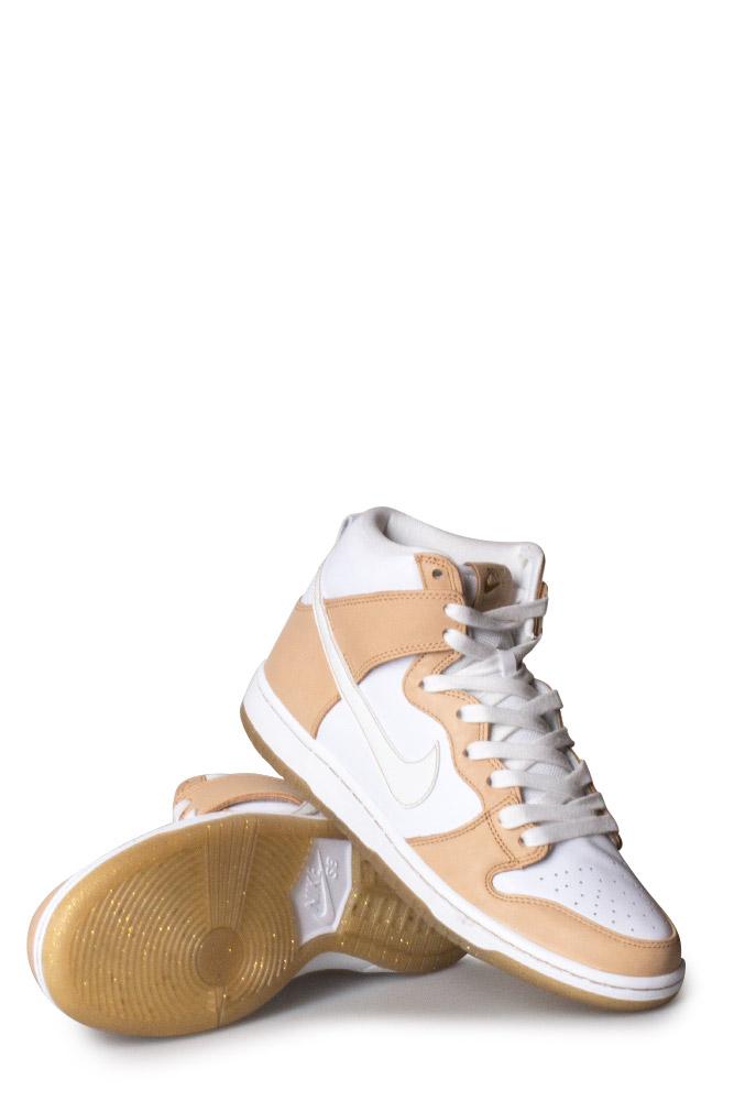 16096fdbec4b ... Editions»Nike SB X Premier Dunk High TRD QS Shoe (Win Some Lose Some) Vachetta  Tan White Jersey Gold. Previous