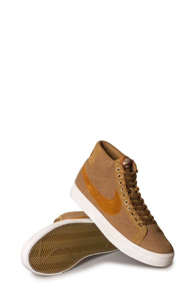 Nike SB Zoom Blazer Mid ISO Shoe (Orange Label Oski) Muted BronzeBurned SiennaSail