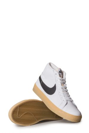 newest 11cef bc191 Nike SB Zoom Blazer Mid ISO Shoe (Orange Label) White Black Safety Orange