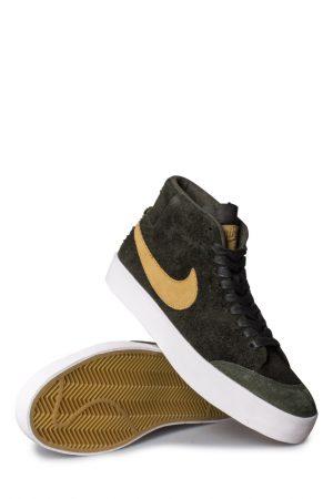 low priced e72d0 97f9e Nike SB Zoom Blazer Mid QS Shoe (Club 58) Sequoia/FLT Gold ...