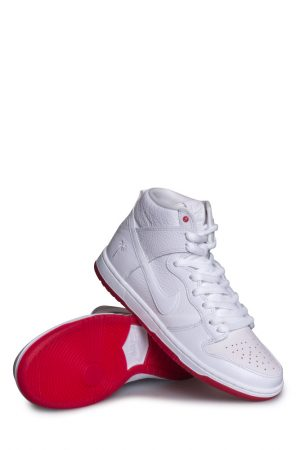 buy online e410c f9ab3 Nike SB Zoom Dunk High Pro QS Schuh (Kevin Bradley) Weiss Weiss Rot