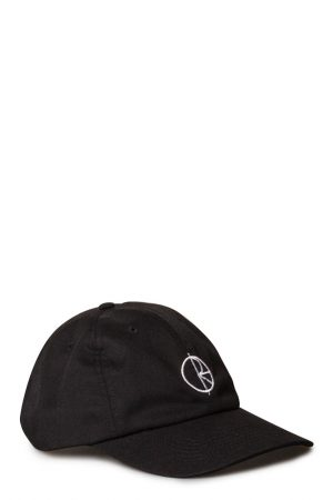 0edb53825da088 Polar Stroke Logo 6 Panel Cap Black