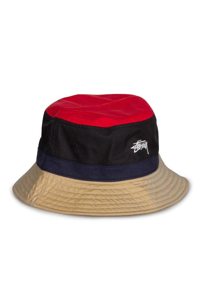 stussy-color-block-bucket-hat-schwarz-1