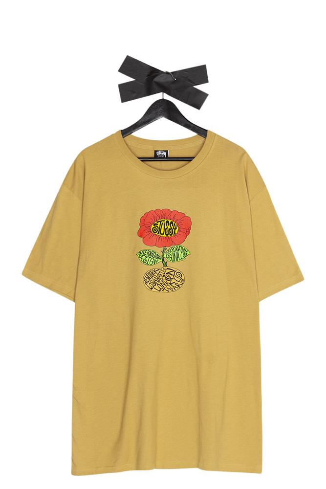 stussy-sunflower-t-shirt-khaki-01