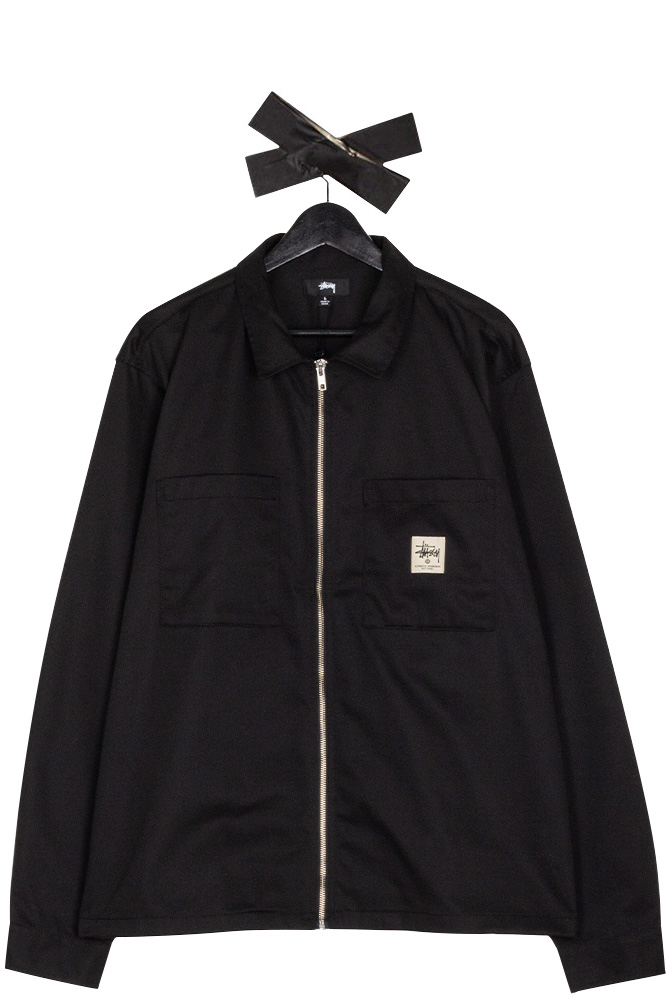 stussy-zip-up-work-longsleeve-shirt-black-01